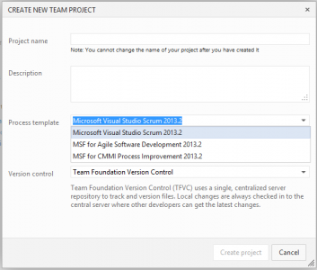 New project - Visual Studio Online